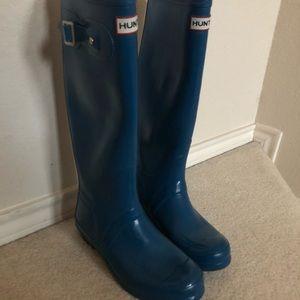 Dark Turquoise Tall Hunter Rain Boots